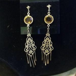 Gold Chandelier Style Earrings